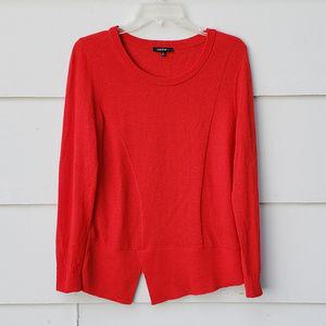 Lafayette 148 Asymmetrical Red/Orange Sweater - S